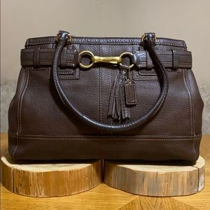 COACH Large Hampton Leather Carry-All Satchel